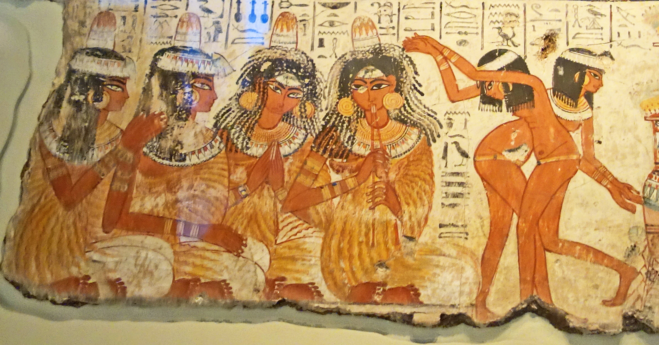 Naked dancing girls from tomb of Nebamun in British Museum