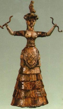 Umìní Kréty - hadí bohynì
