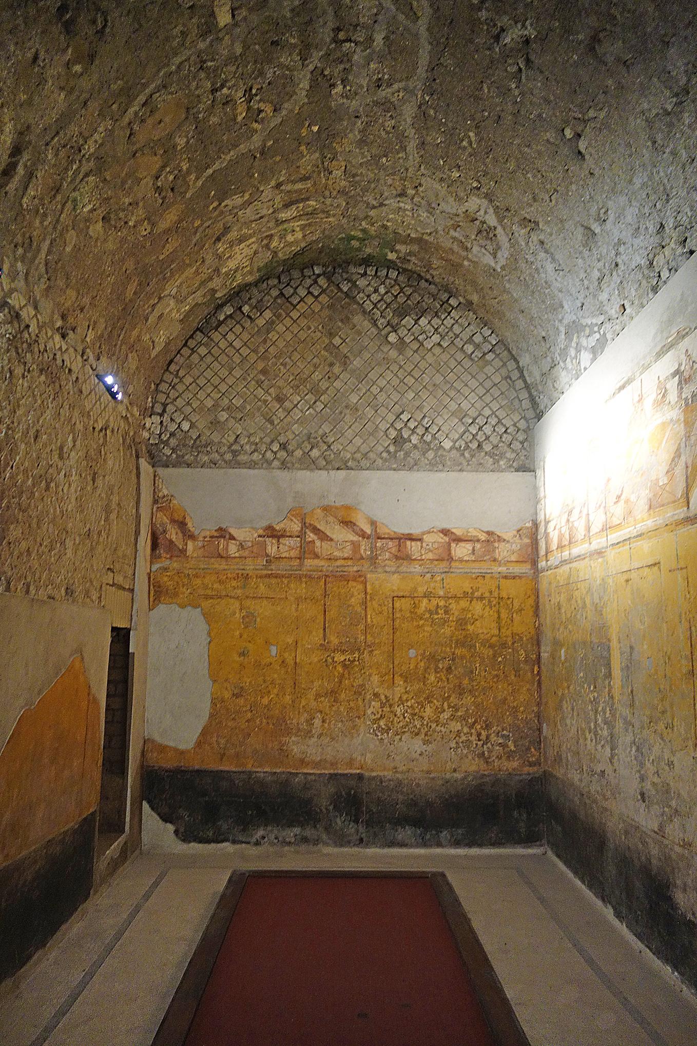 Pompeii Suburban baths apodyterium DSC04415